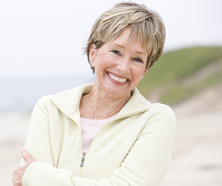 Older woman with flawless smile